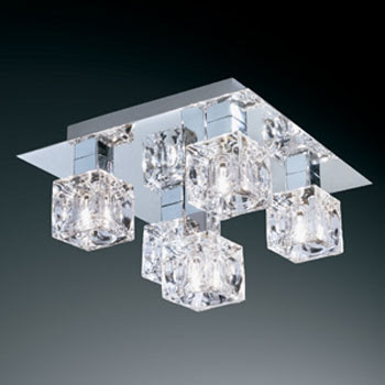Stylish Ceiling Lamp, the 44765 Cool Ice 5 Lights Semiflush Ceiling Light