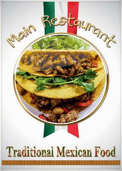 plantilla para menús para restaurantes de comida mexicana