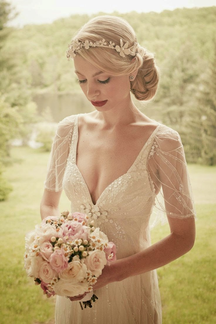 vintage country wedding hair style romantic vintage wedding hair