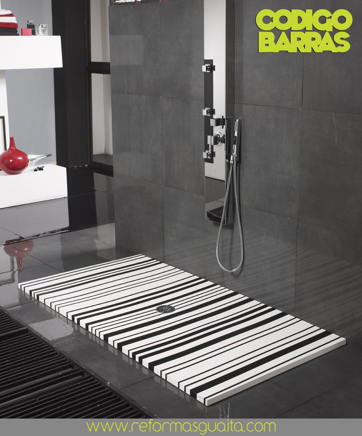 Originales y novedosos platos de ducha a 2 colores ~ Reformas Guaita
