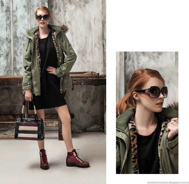 Blaqué otoño invierno 2015 moda camperas, carteras y zapatos invierno 2015.