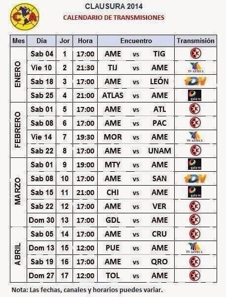 Calendario de la Liga MX BBVA Bancomer para el Apertura