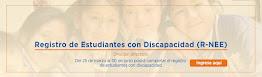REGISTRO DE ESTUDIANTES CON DISCAPACIDADES