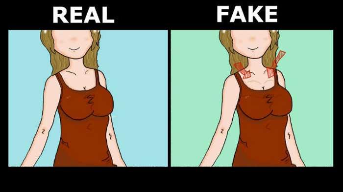 real tits vs fake