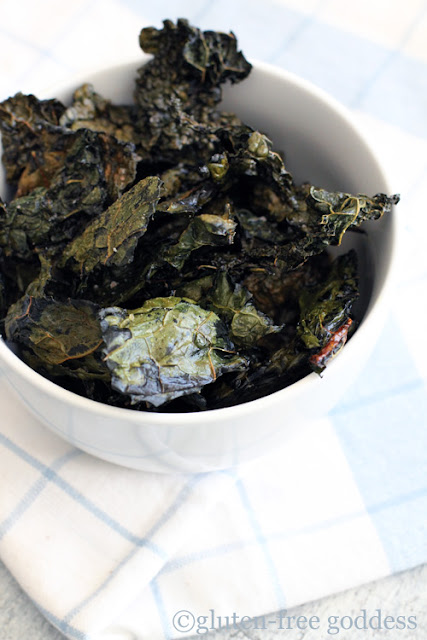 Easy Crispy Kale Chips- perfect for a gluten-free diet