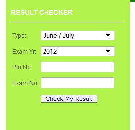 My Neco Result