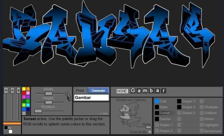 Cara Membuat Tulisan Graffiti Online Keterangan Gambar