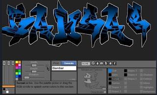cara membuat tulisan graffiti online