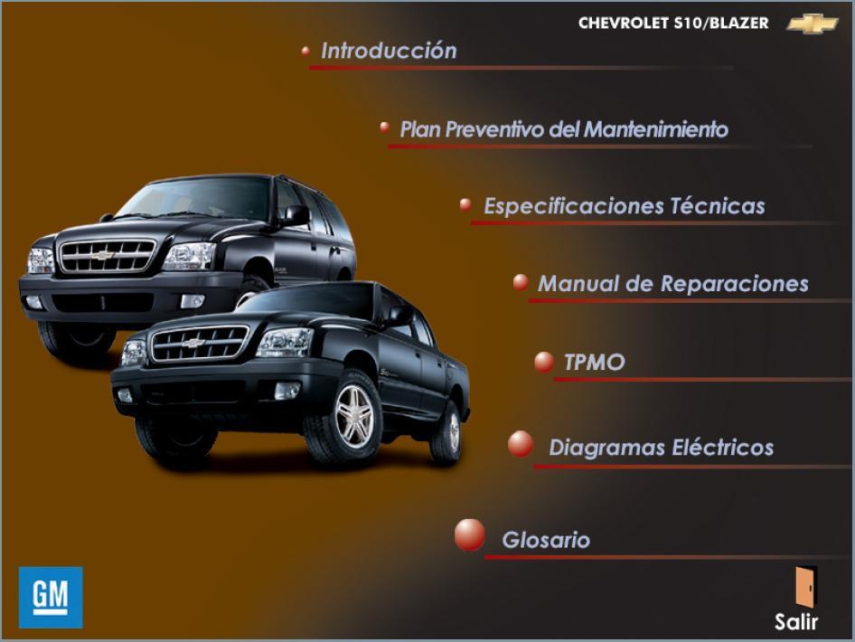 manuales chevrolet taller diagramas esquemas rh manuales chevrolet blogspot com manual de usuario chevrolet blazer 2001 manual de blazer 2001 en español