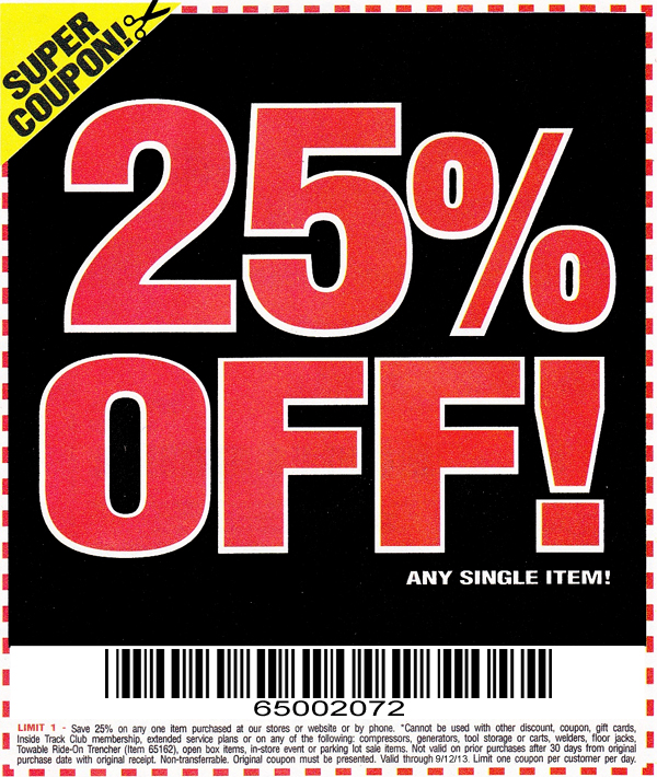 Harbor Freight 20 Percent Off Coupon | 2017 - 2018 Best ...