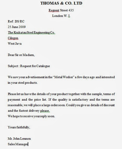 Inquiry Letters and Replying to the Inquiry Business English