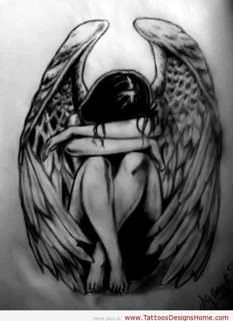 fallen angel tattoos popular tattoo designs. Black Bedroom Furniture Sets. Home Design Ideas