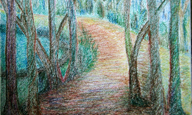 Woods - Oil Pastel