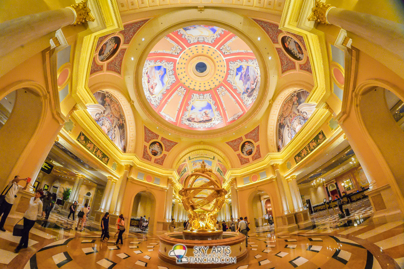 Interior of the Venetian Macao. Check out the dome!!