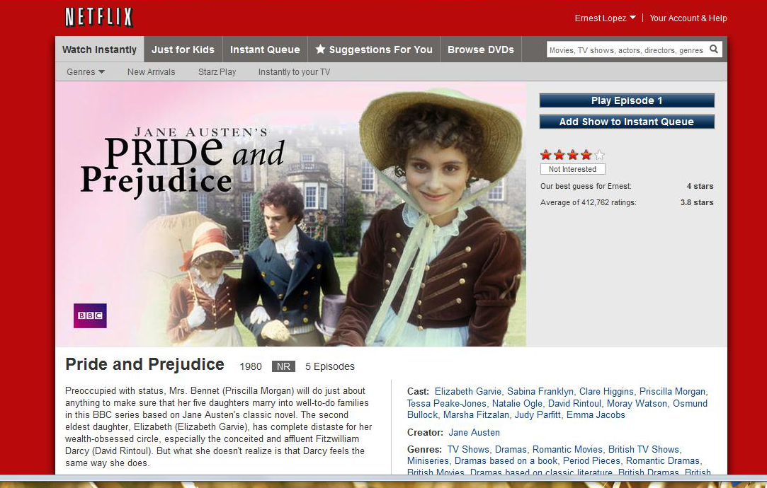 Is pride and prejudice...