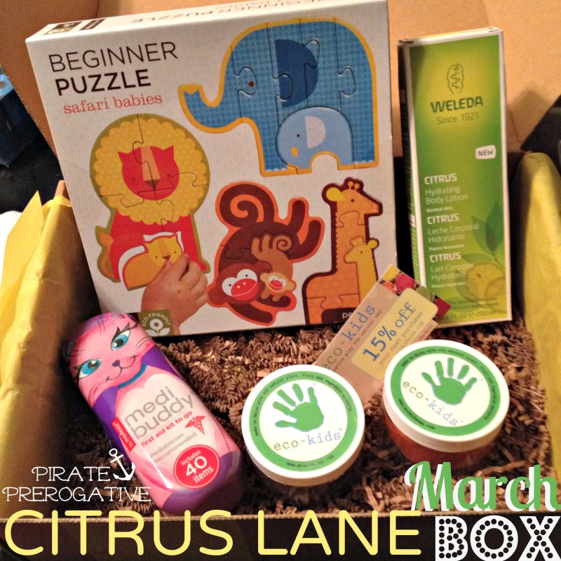 Citrus Lane for March came with all these goodies! The lotion smells like Margaritas too.