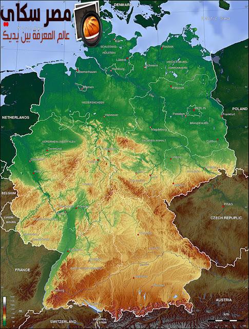 جمهورية ألمانيا والموقع الجغرافى لها