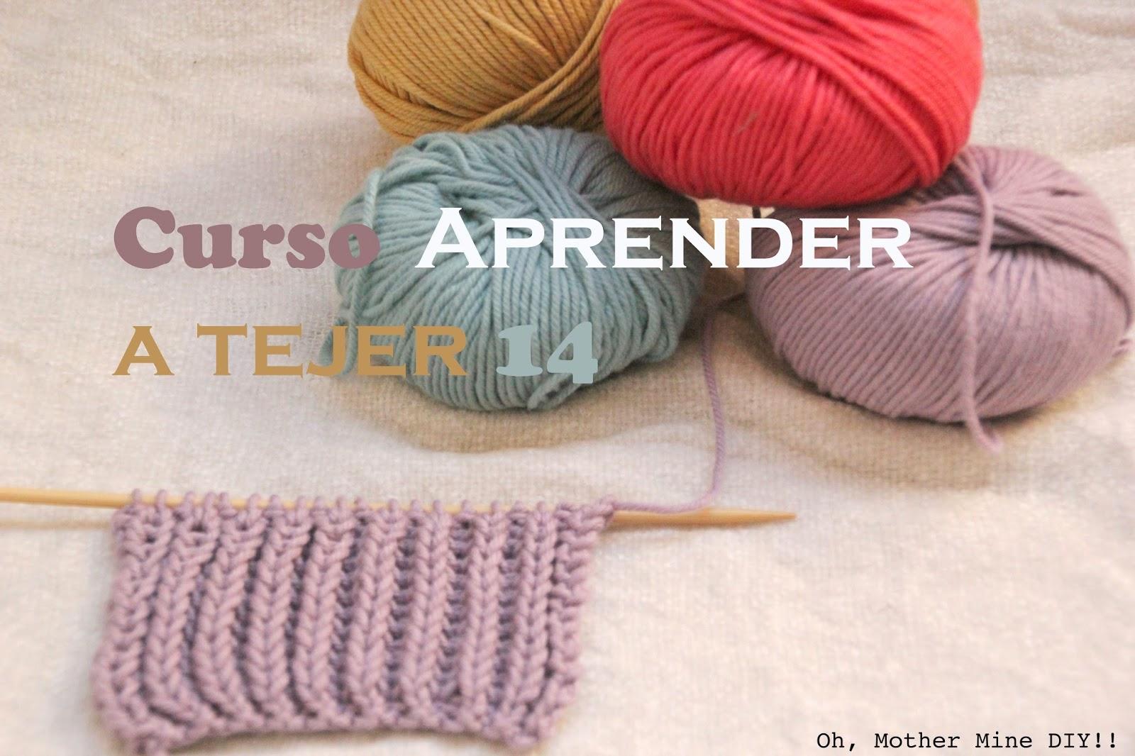 coser.: Curso APRENDER A TEJER CON DOS AGUJAS (Cap 14) Punto inglés