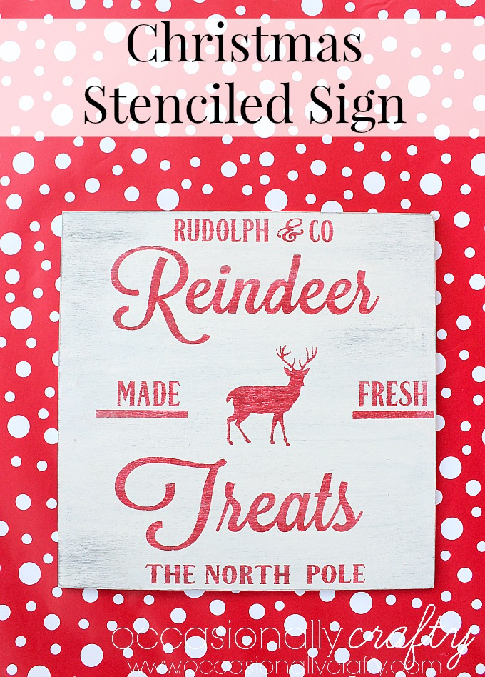 Make this beautiful stenciled Christmas sign to add to your holiday decor!