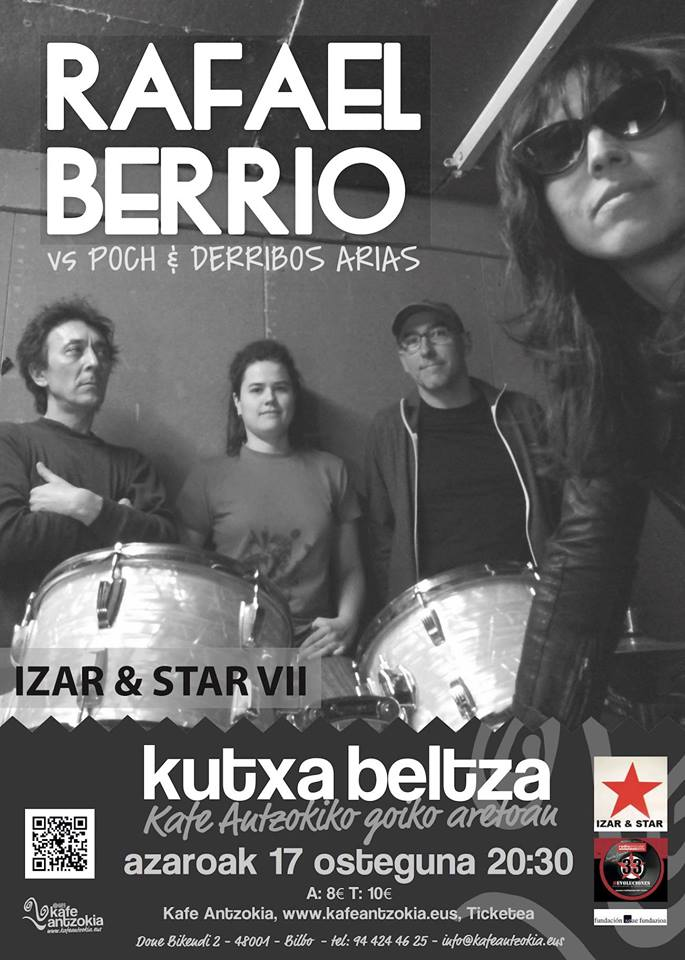 RECOMENDACIÓN!!! - 17/11/16<br> Kutxa Beltza Kafe Antzokia - Bilbao