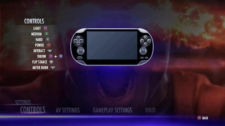 Remote Play Review For PS Vita Injustice Gods Among Us PS Vita - Injustice god among us buttom map