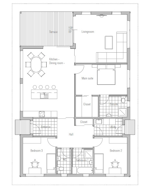 Affordable Home Plans Affordable Home Plan Ch72