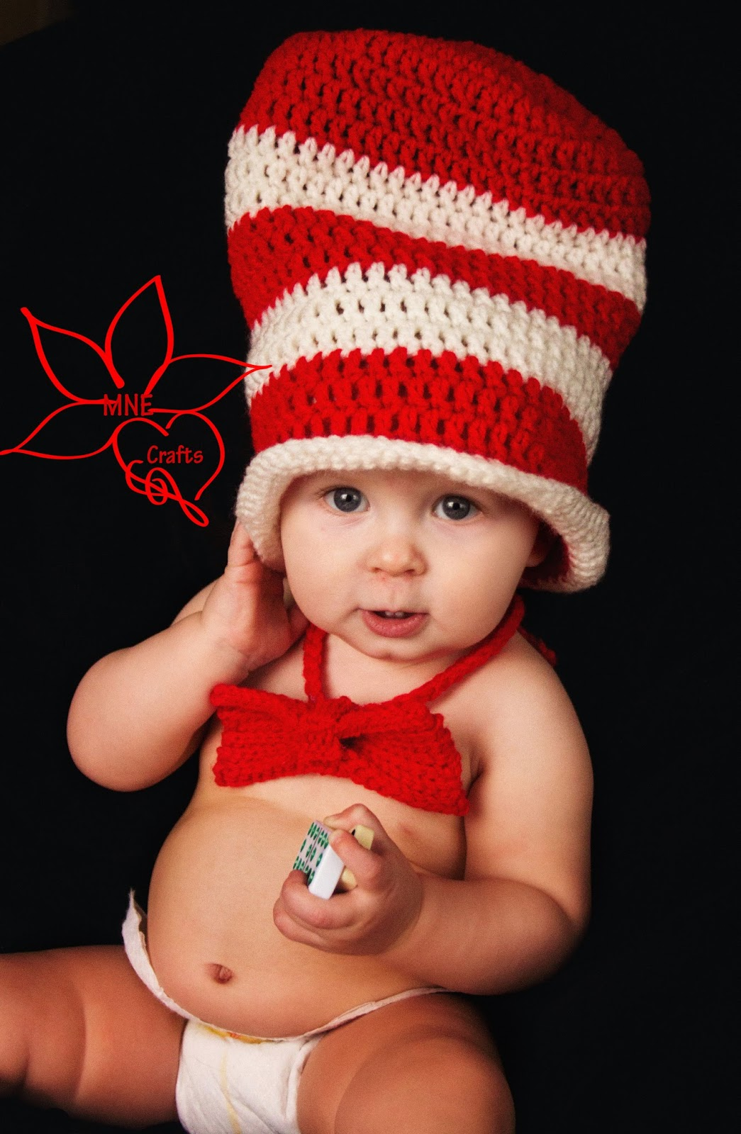 MNE Crafts: Cat in the Hat - Hat & Bow Tie Set