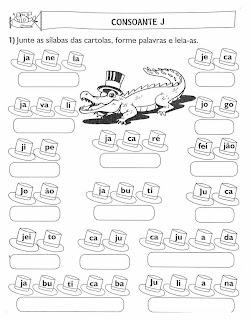 Atividades com Consoantes para Alfabetização