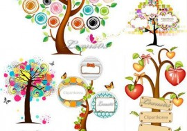 trees vector, jpg preview, pohon, pohon vector, kayu download, kayu vector, buah vector