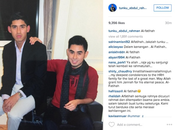 """My Brother, My Hero"" – Tunku Idris"