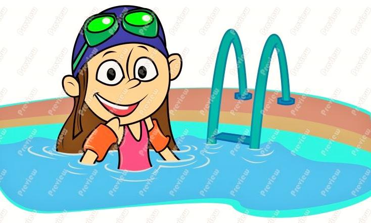 Swim Lesson Clip Art Taking swimming lessons.