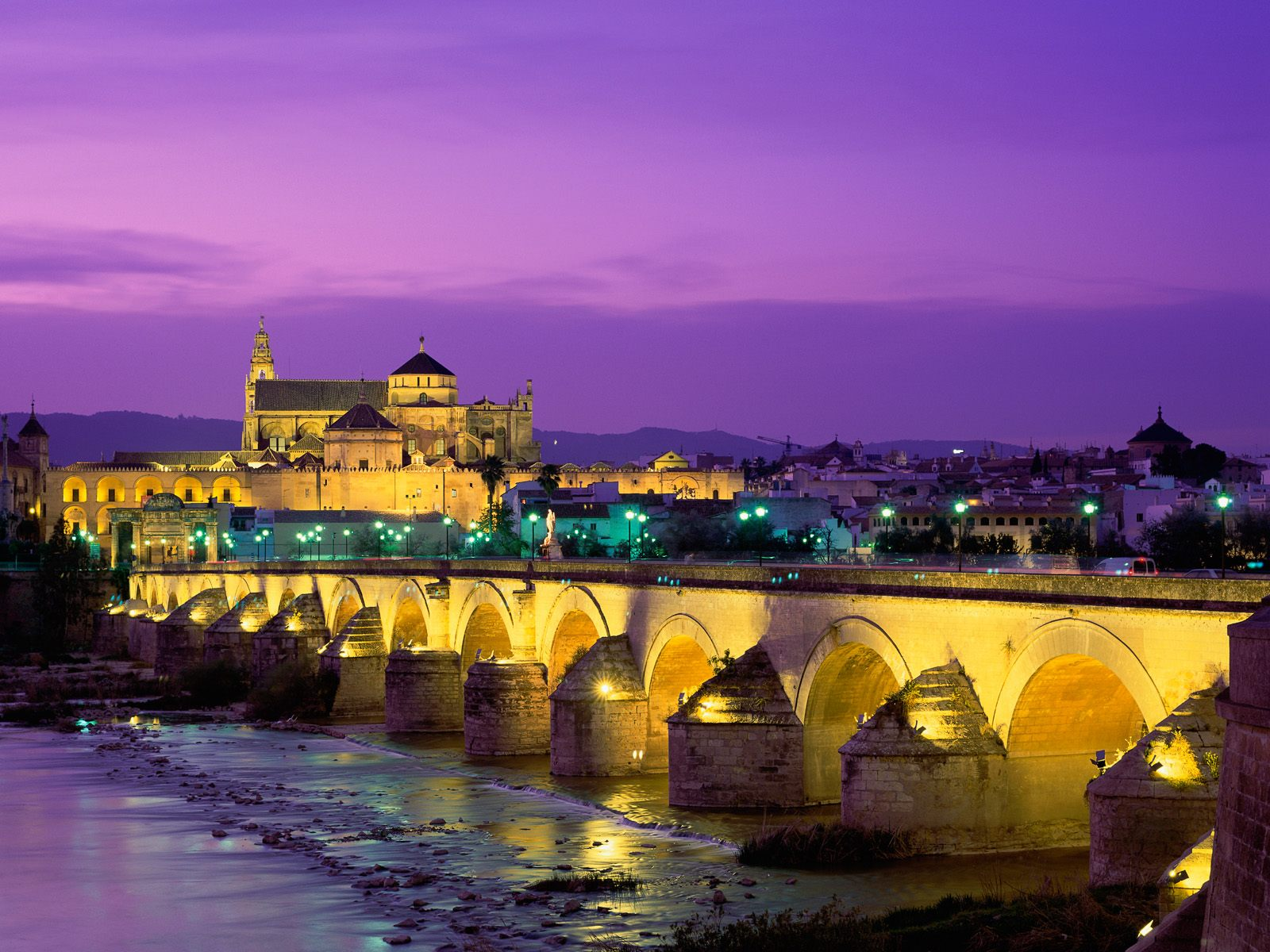 roman bridge guadalquivir river spain wallpapers - Wallpaper roman bridge guadalquivir river spain