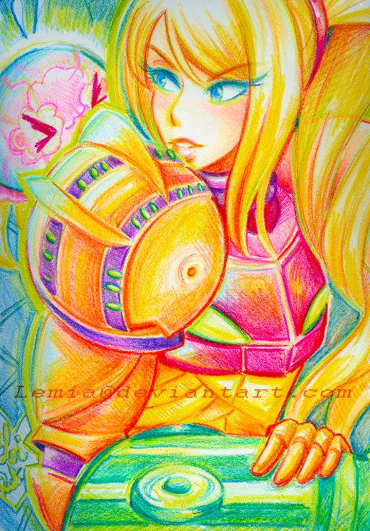 Crayon Samus Aran por Lemia