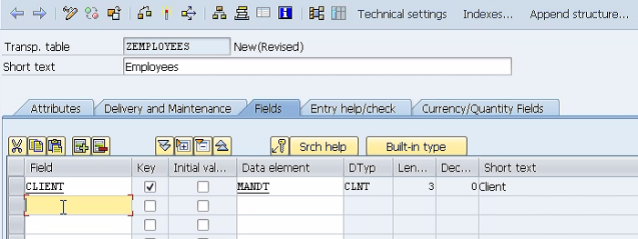 Creating Fields in SAP ABAP