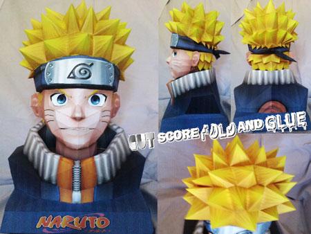 Comment fermer / terminer un Papercraft ? Naruto+papercraft+bust