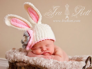 bunny rabbit baby hat photo prop by IraRott