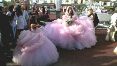 Irish Traveler Wedding Dresses Design With The Color Pink