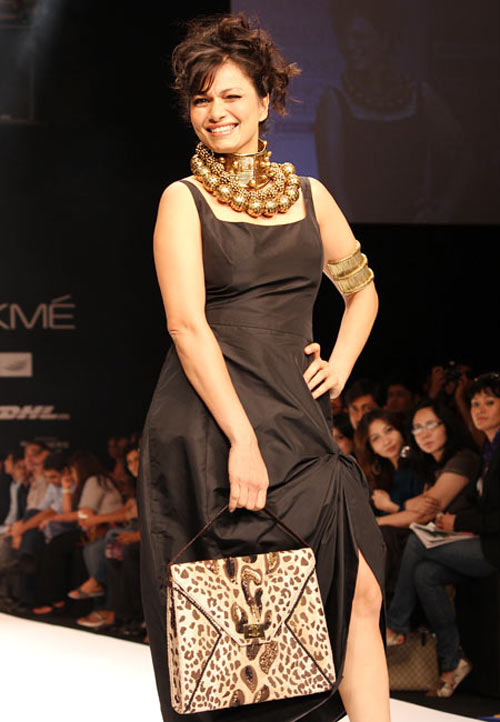 Maria Goretti for Malini Agarwalla1 -  Bollywood celebs at Lakme Fashion Week 2012
