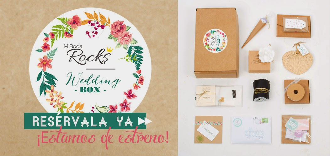 Wedding Box caja regalo original para novias Mi Boda Rocks