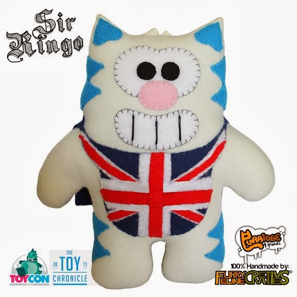 """ToyCon UK Exclusive """"Sir Ringo"""" Plush by Furry Feline Creatives & The Toy Chronicle"""