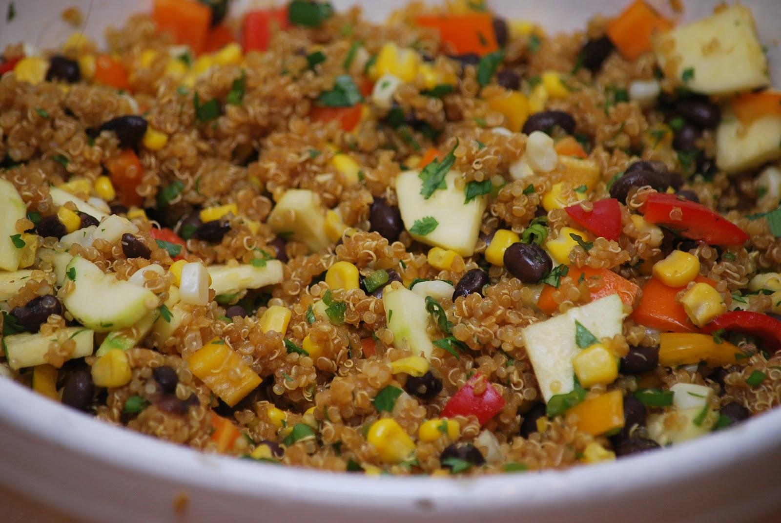 ... quinoa. Sprinkle pumpkin seeds over salad. Serve immediately or hold