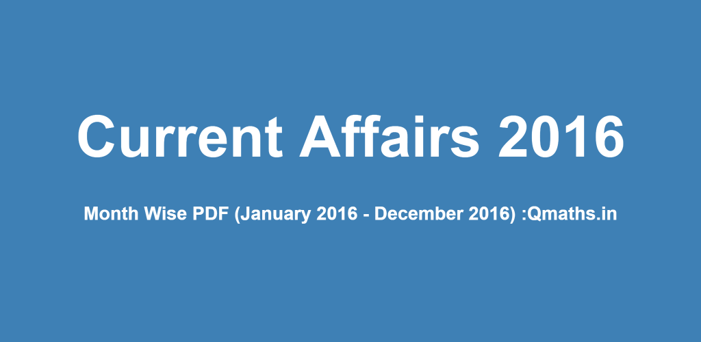 Current Affairs 2018 for TNPSC Exams - Download PDF