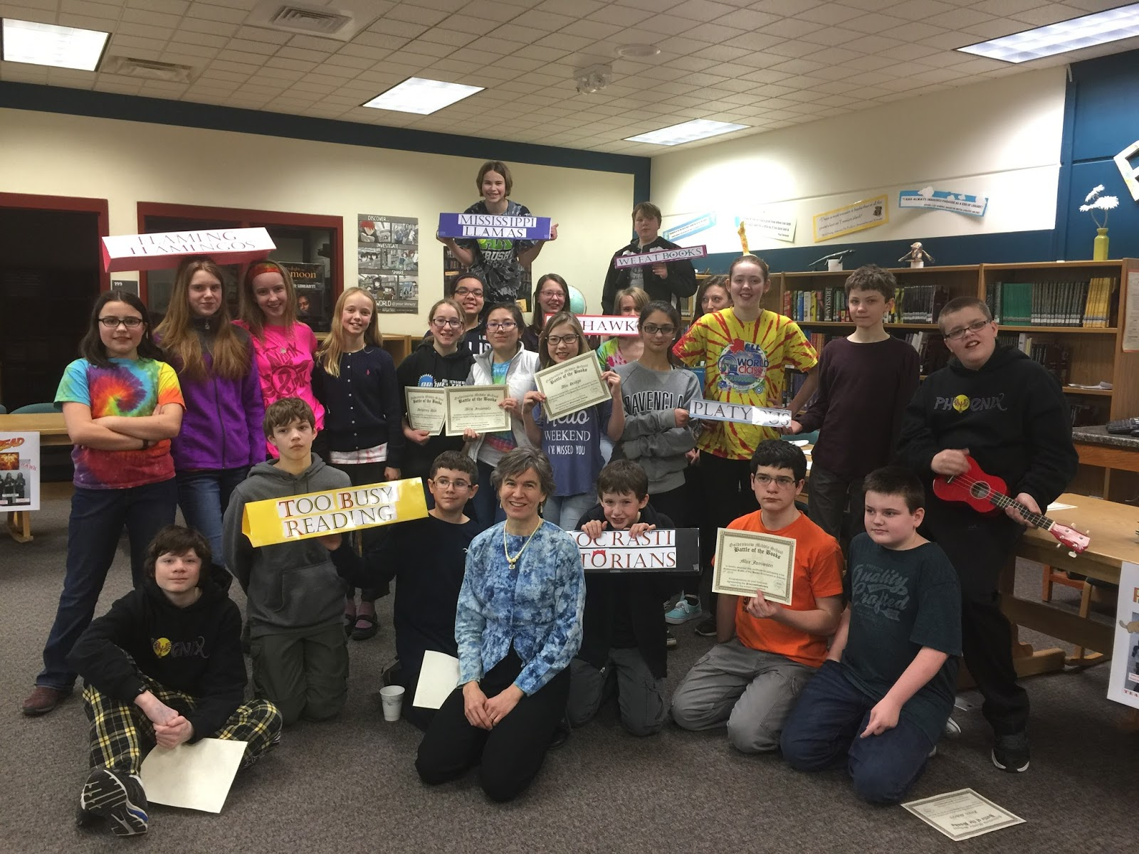 Battle of the Books 2016 | Goldenview Middle School Library