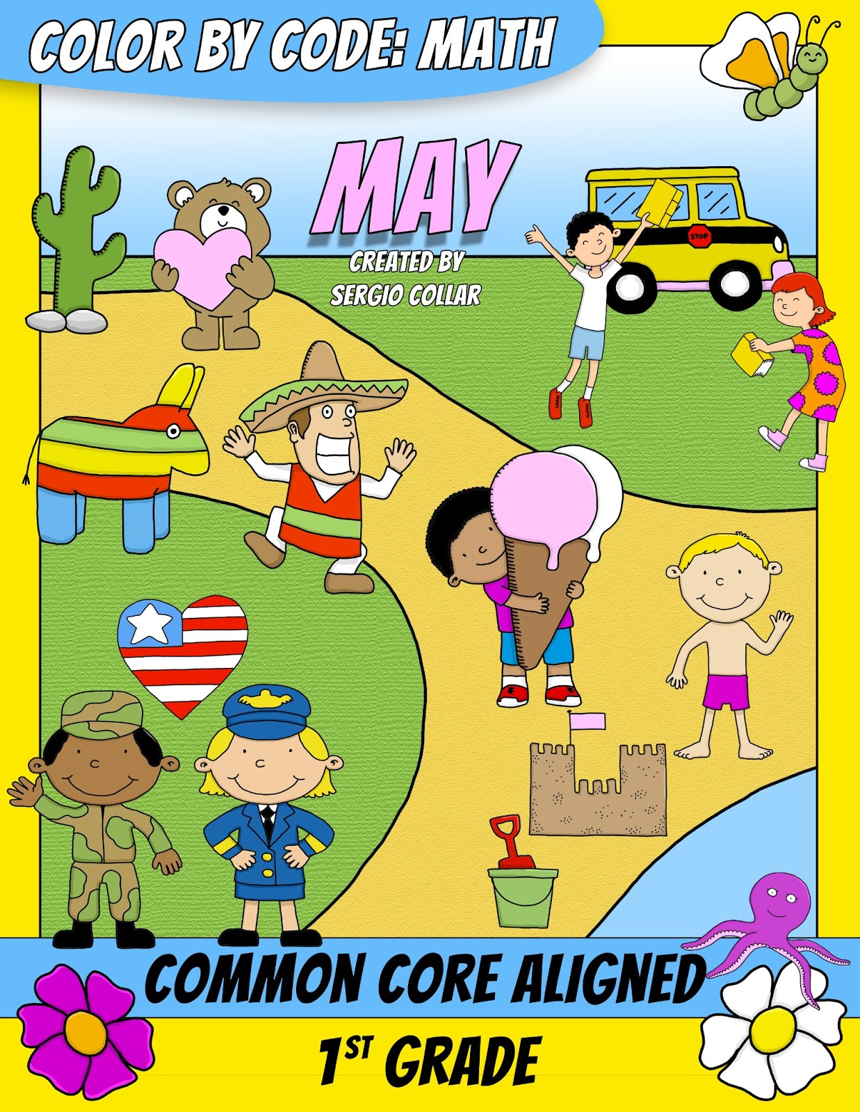 SPANISH TEACHER FROM SPAIN: Color by Code : Math - MAY - 1st GRADE ...