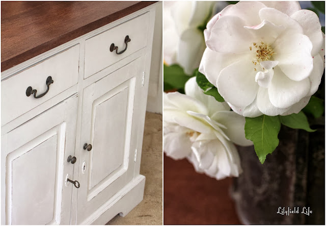Painted white hall cupboard by Lilyfield Life