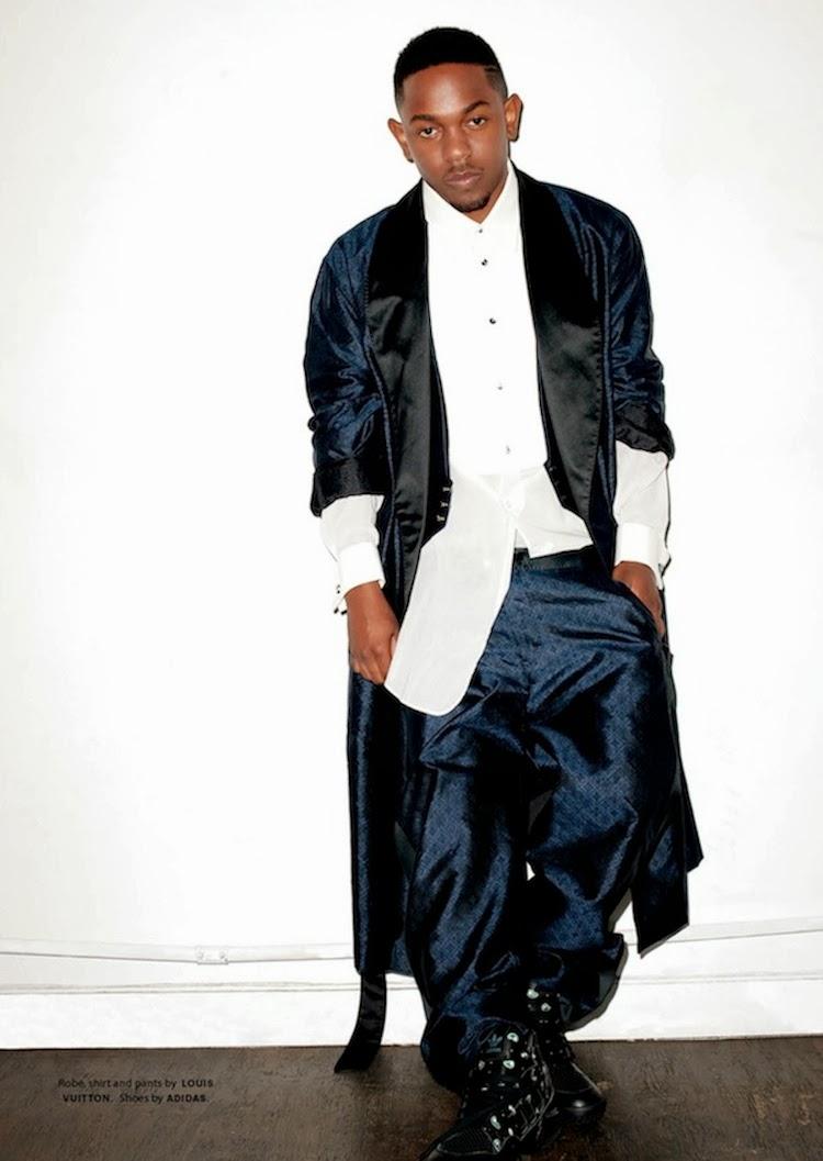 kendrick lamar by terry richardson october 2013, louis vuitton, adidas