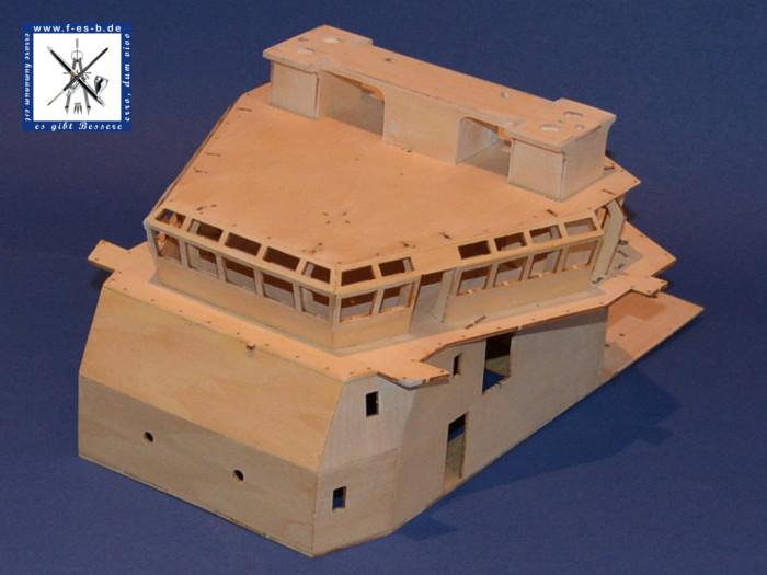 Billing Boat Fairmount Alpine Bau der Kabine - zusammengesteckter / Montage der Fensterrahmen