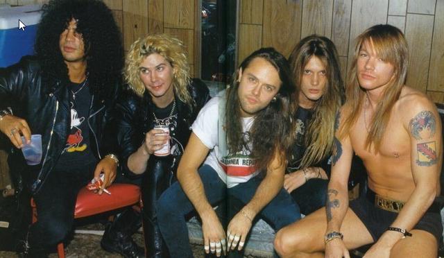 Slash, Duff, Lars, Sebastian & Axl