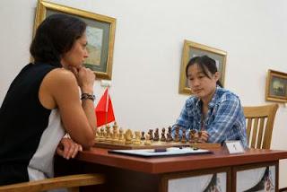 Echecs : Alexandra Kosteniuk 0-1 Zhao Xue - Tashkent R02 - Photos © Maria Emelianova