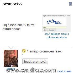 Imagens Engraçadas de Promoções Do Orkut